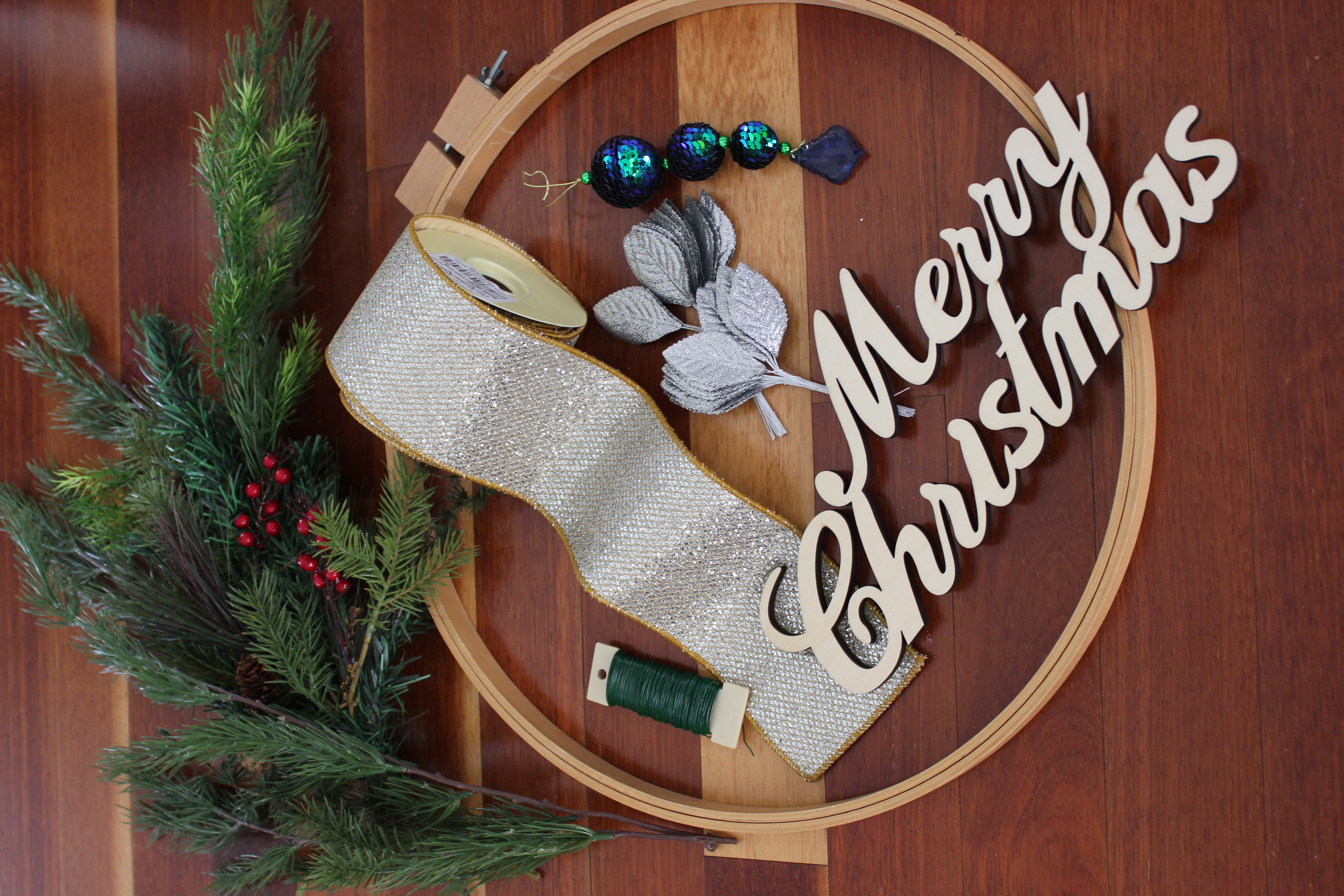 Christmas Embroidery Hoop Wreath.Embroidery Hoop Ribbon Christmas Wreath The Ribbon Roll Blog