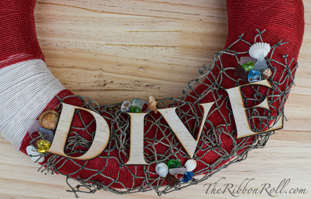 "Nautical ""Diver Below"" Wreath"