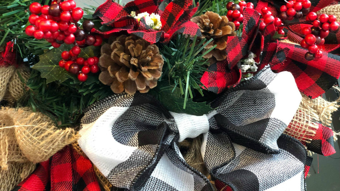 Christmas in July – Buffalo Plaid Wreath