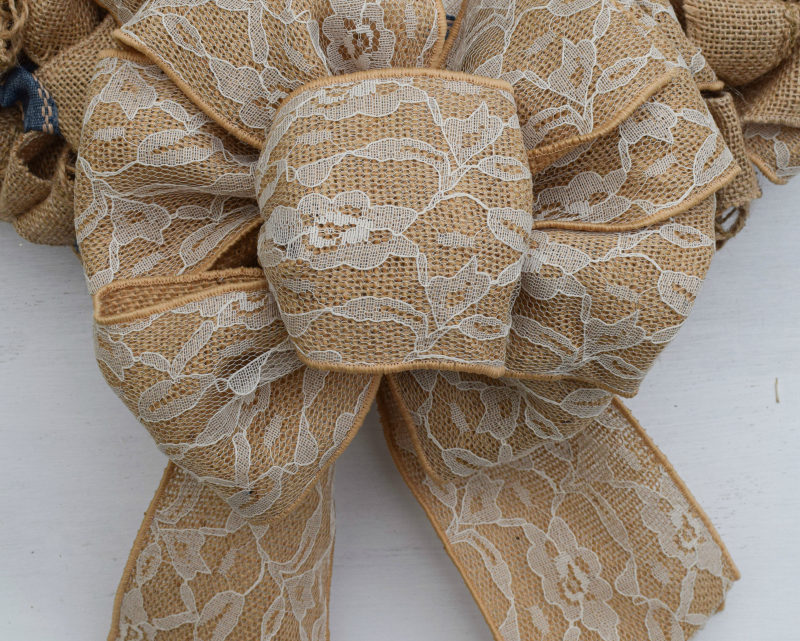 Burlap & Denim Rustic Wreath